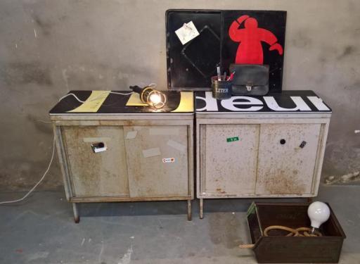 Metal teens stoere industriele kastjes als nieuw - Bijvoorbeeld tienerkamer ...